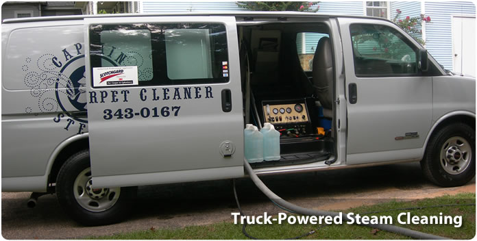 Truck-Powered Steam Cleaning